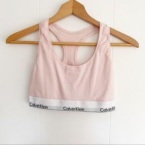 Calvin Klein Racer back bralette light pink L